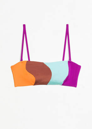 And other stories Colour Wave Halter Bikini