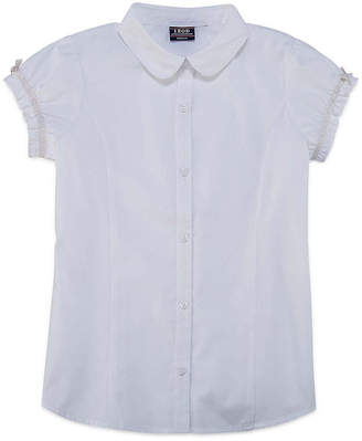 Izod EXCLUSIVE Exclusive Short Sleeve Button-Front Shirt Girls 4-18 and Plus