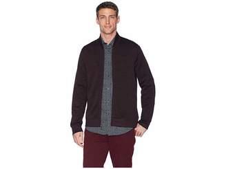 Perry Ellis Textured Knit Bomber Jacket