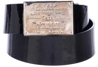 Ralph Lauren Patent Leather Buckle Belt