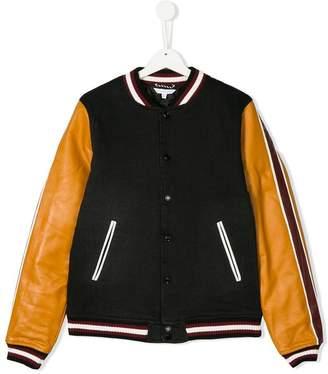 Little Marc Jacobs contrast sleeve bomber jacket