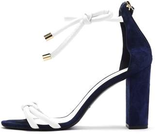 Oscar de la Renta Suede and Leather Freya Sandals