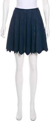 Alaia Scalloped Mini Skirt