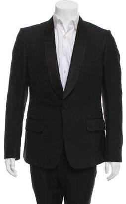 Gucci Silk-Blend Printed Tuxedo Jacket