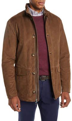 Peter Millar Men's Steamboat Suede Field Leather