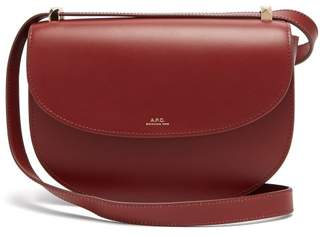 A.P.C. Geneve Leather Cross Body Bag - Womens - Burgundy