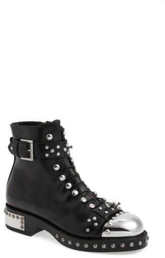 Alexander McQueenWomen's Alexander Mcqueen Studded Cap Toe Boot