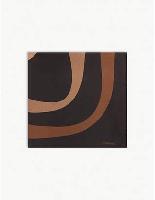 Tom Ford Wave print silk pocket square
