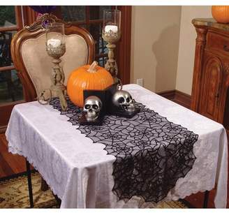 Underwraps Lace Spider Web Table Runner Halloween Decoration