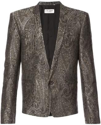 011126b441b Saint Laurent short jacquard dinner jacket