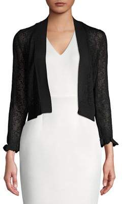 Calvin Klein Lace Cropped Cardigan