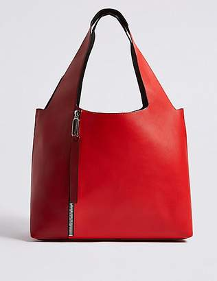 M&S Collection Faux Leather Hobo Bag