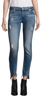 True Religion Liv Low-Rise Distressed Step Hem Jeans $199 thestylecure.com