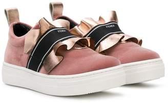 Fendi ruffle sneakers