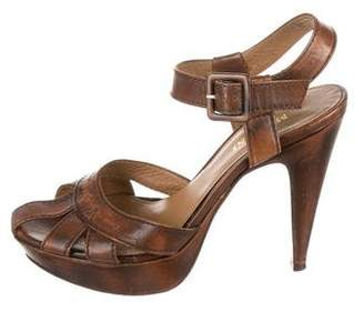 Missoni Cutout Leather Sandals