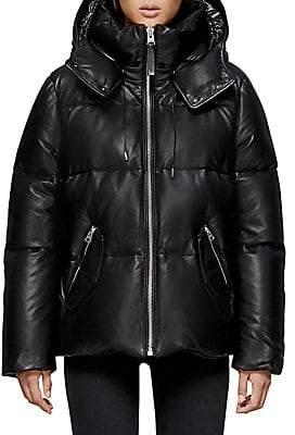 Mackage Women's Leather Down Puffer Jacket