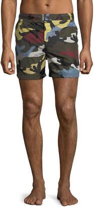 Valentino Men's Uomo Camo Swim Trunks