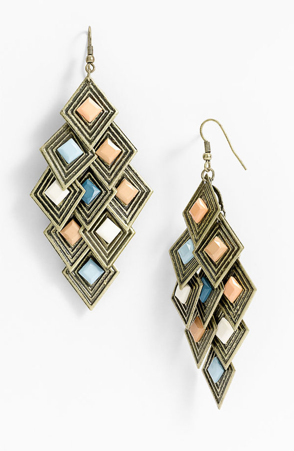 Carole Geometric Chandelier Earrings