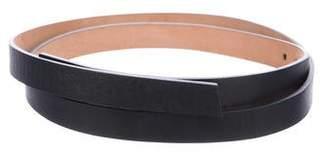 Akris Leather Skinny Belt
