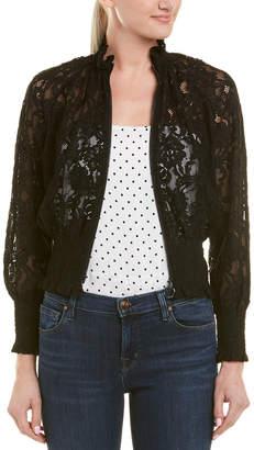 Rebecca Taylor Lace Bomber Jacket