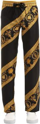 Versace I Heart Baroque Silk Pajama Pants