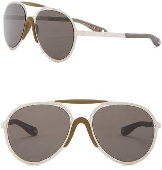 Givenchy 57mm Metal Aviator Sunglasses