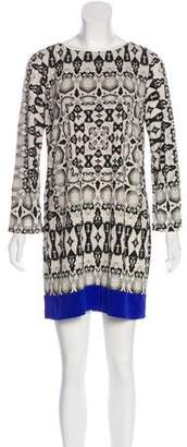 Nicole Miller Printed Mini Dress
