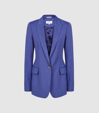 Reiss Haya Jacket - Single Breasted Blazer in Cobalt