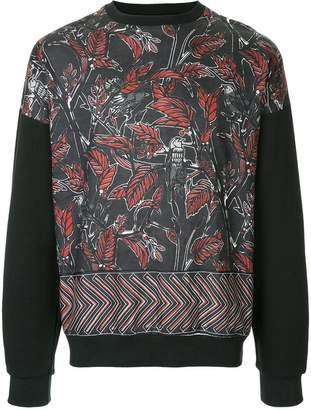Yoshio Kubo Yoshiokubo leaf printed sweatshirt