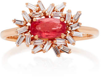 Suzanne Kalan One-of-a-Kind 18K Rose Gold Rhodonite and Diamond Ring