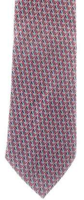 Louis Vuitton Geometric Logo Silk Jacquard Tie