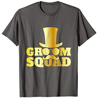 Bachelor Party for Groom Squad Mustache for Wedding T-Shirt