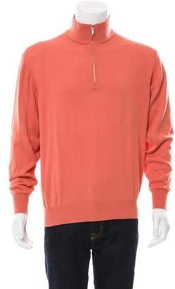 Loro Piana Rib Knit Half-Zip Sweater