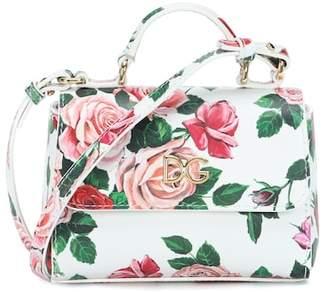 Dolce & Gabbana Floral leather shoulder bag