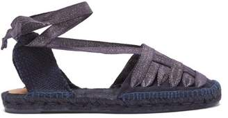 Castaner Jean Laced Canvas Espadrilles - Womens - Navy