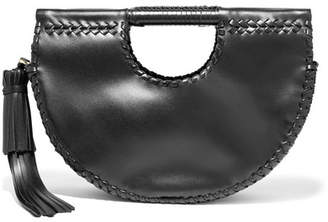 Ulla Johnson Melora Whipstitched Leather Tote - Black