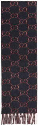 Gucci Grey Big GG Lady Scarf