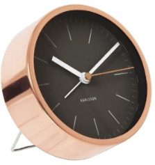 Karlsson Minimalist Table Alarm Clock - Gold/White MOP - Copper/Black/White