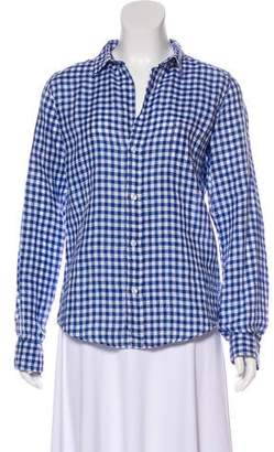 Frank And Eileen Checkered Linen Top