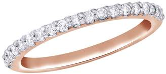 AFFY Natural Diamond Anniversary Band Ring In 14k Solid Gold (0.2 Ct)