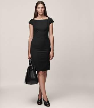 Reiss Huxley Ss Dress Short-Sleeved Tailored Dress