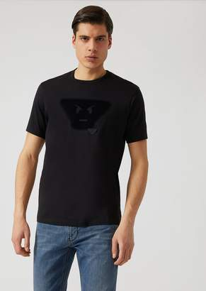 Emporio Armani Fancy Collection T-Shirt With Emoticon Patch