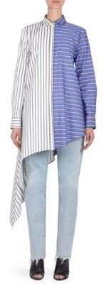 Off-White Stripe Asymmetrical Shirt