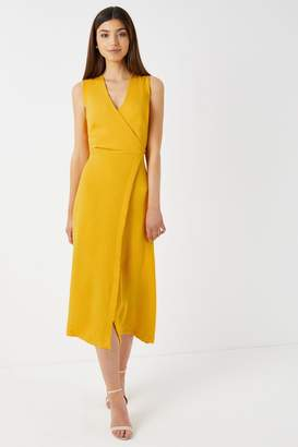 Closet Womens A line Wrap Dress - Yellow