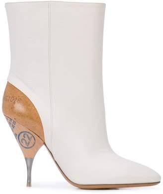 Maison Margiela contrasting heel ankle boots