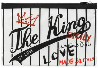 Dolce & Gabbana The King of Love printed clutch