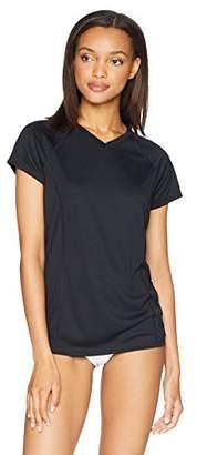 Amazon Essentials Women's Standard Short-Sleeve Quick-Dry UPF50 Swim Tee