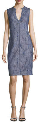 Elie Tahari Pacey V-Neck Sleeveless Dress