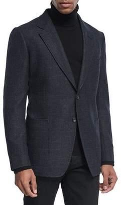 Tom Ford Shelton Prince of Wales Canvas Cardigan Jacket