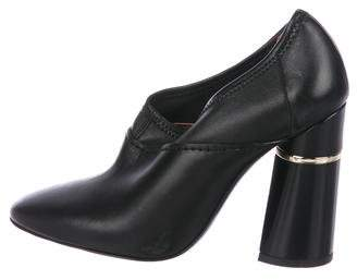 3.1 Phillip Lim Leather Round-Toe Booties